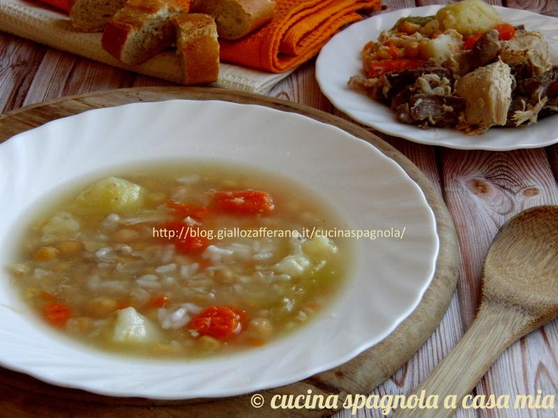 Il puchero ricetta andalusa tipica in tutta la Spagna. Ma che cosa è? Un bollito (cocido) di carne e verdure da cui si ricava un primo piatto e due secondi.