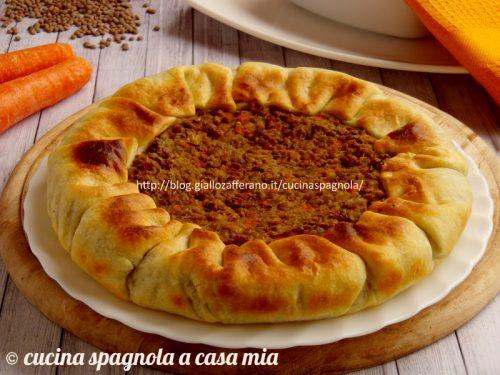 TORTA SALATA LENTICCHIE, CAROTE E RICOTTA
