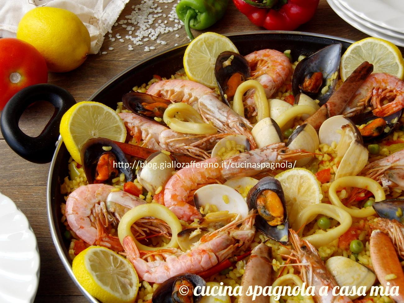 Paella di pesce e verdure la ricetta spagnola originale for Ricette spagnole