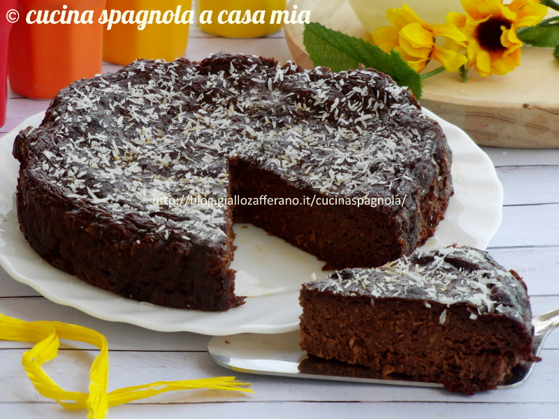 torta con avocado, cocco e cioccolato (senza farina nè grassi) - Blog Di Cucina Dolci