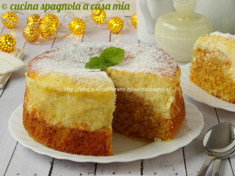 torta di carote e crema di cocco alla ricotta