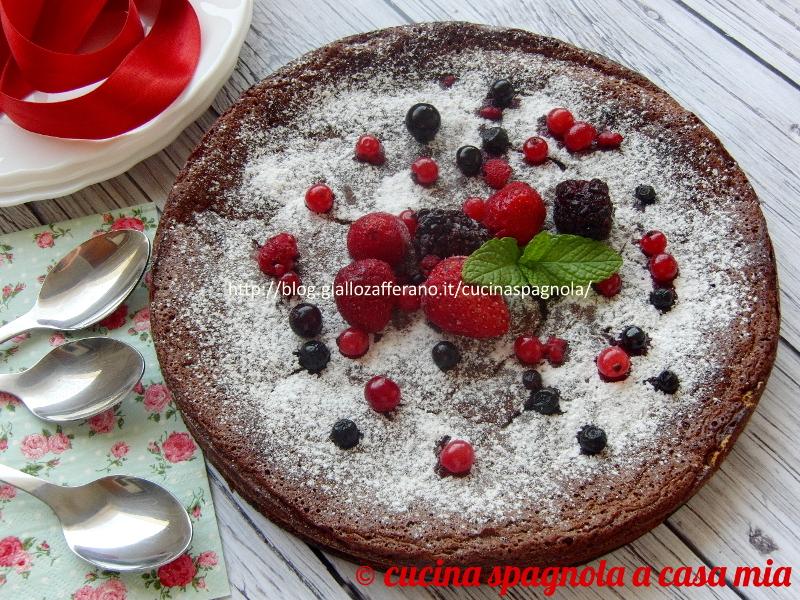 torta al cioccolato senza farina ricetta facile senza glutine