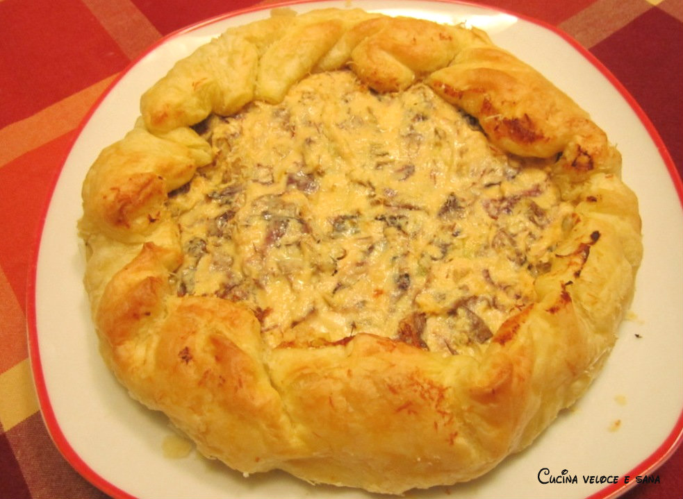 Torta salata radicchio zucca e noci ricetta vegetariana cucina veloce e sana - Cucina veloce e sana ...