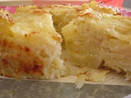 Tortino di patate cavolfiore e formaggio, ricetta vegetariana