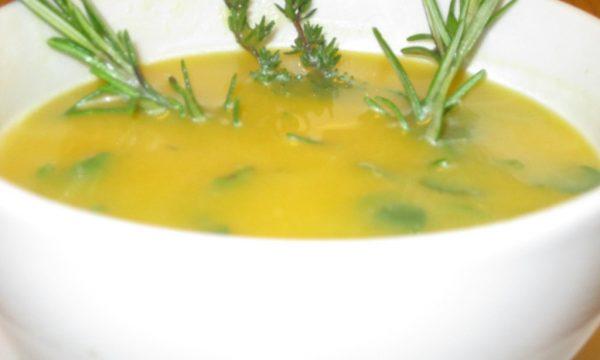 Zuppa di porro finocchio e zucca, ricetta light