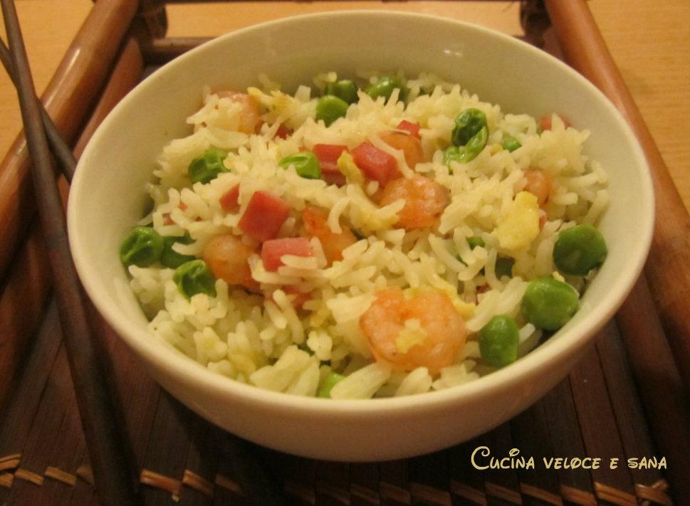 Riso alla cantonese ricetta etnica cucina veloce e sana - Cucina veloce e sana ...