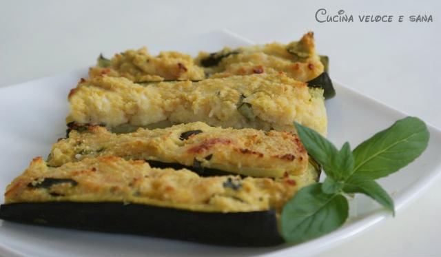 Zucchine ripiene al forno ricetta vegetariana cucina veloce e sana - Cucina veloce e sana ...
