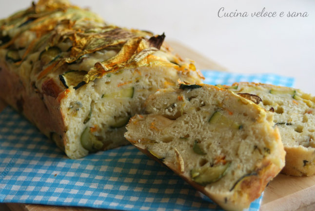 Plumcake alle zucchine e fiori di zucca cucina veloce e sana - Cucina veloce e sana ...