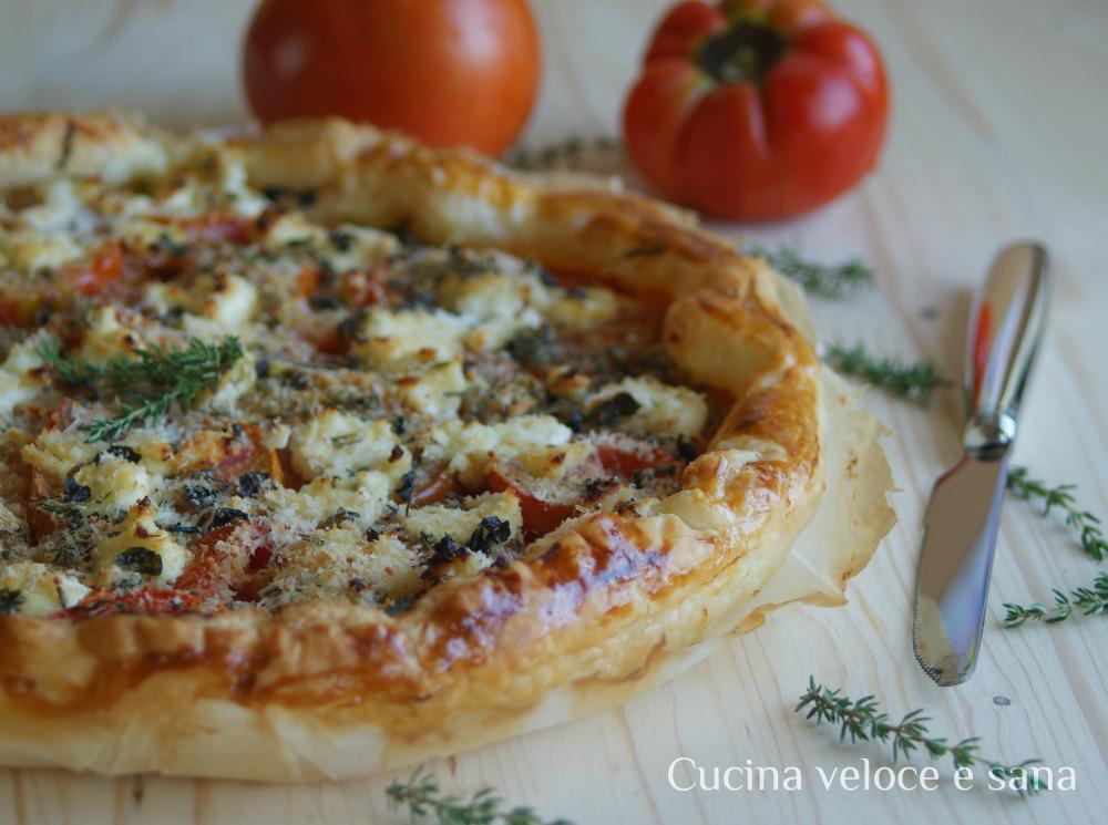 Torta salata con pomodori e robiola profumata al timo cucina veloce e sana - Cucina veloce e sana ...