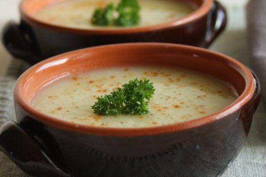 Zuppa di patate e porri piccante
