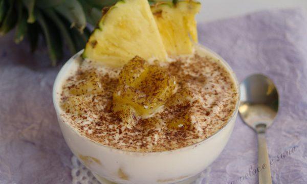 Coppa all'ananas, ricetta dessert