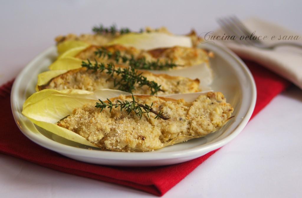 Barchette di indivia belga gratinata cucina veloce e sana - Cucina veloce e sana ...