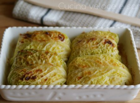 Fagottini di verza con riso e pollo