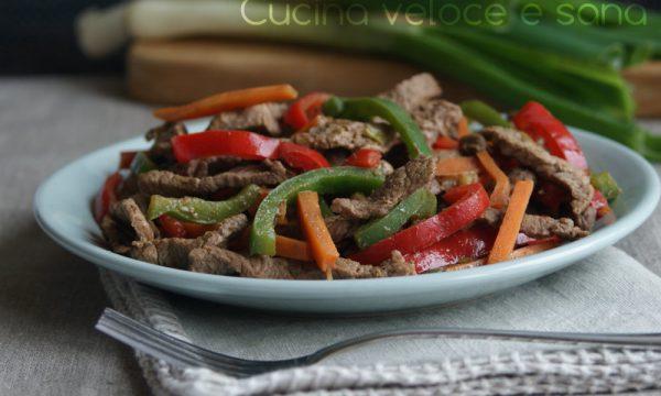 Straccetti di manzo alle verdure