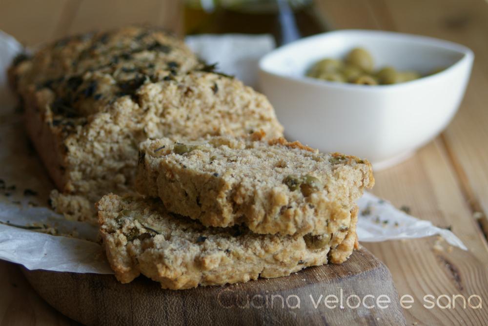 Plumcake rustico alle olive cucina veloce e sana - Cucina veloce e sana ...