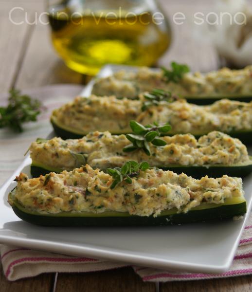 Zucchine ripiene saporite ricetta facile cucina veloce e sana - Cucina veloce e sana ...