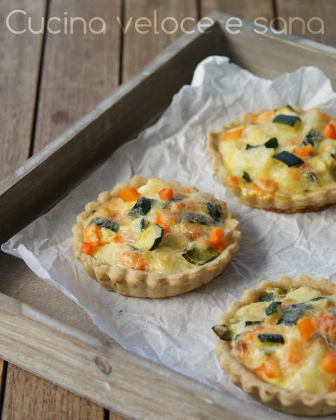 Crostatine salate alle verdure cucina veloce e sana - Cucina veloce e sana ...