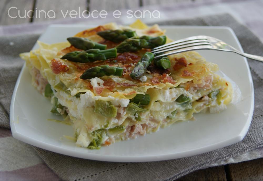 Lasagne con asparagi e prosciutto cucina veloce e sana - Cucina veloce e sana ...