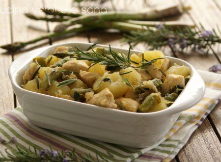 Pollo con asparagi e patate