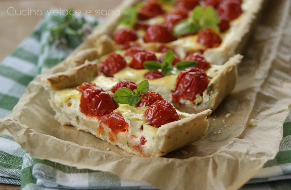 Crostata con pomodorini e ricotta cucina veloce e sana - Cucina veloce e sana ...