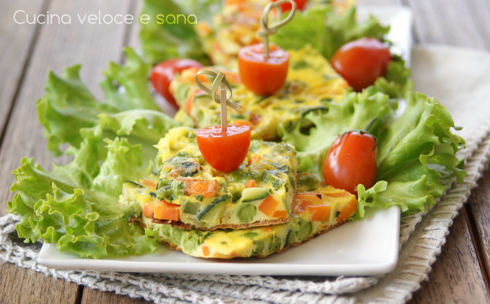 Frittata alle verdure cucina veloce e sana - Cucina veloce e sana ...