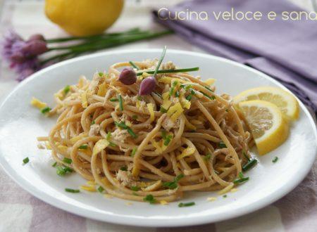 Spaghetti al tonno, limone e ricotta