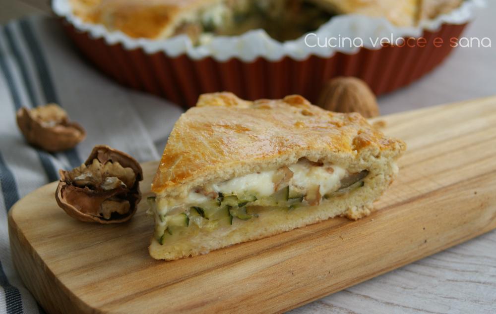 Torta salata con zucchine | Cucina veloce e sana