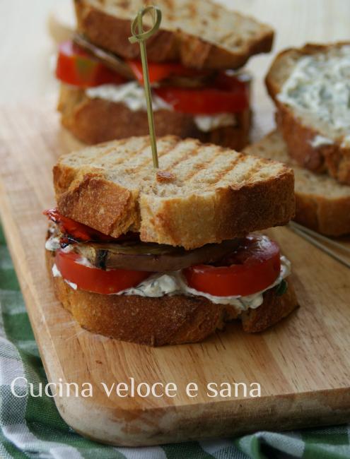 Panino vegetariano cucina veloce e sana - Cucina veloce e sana ...