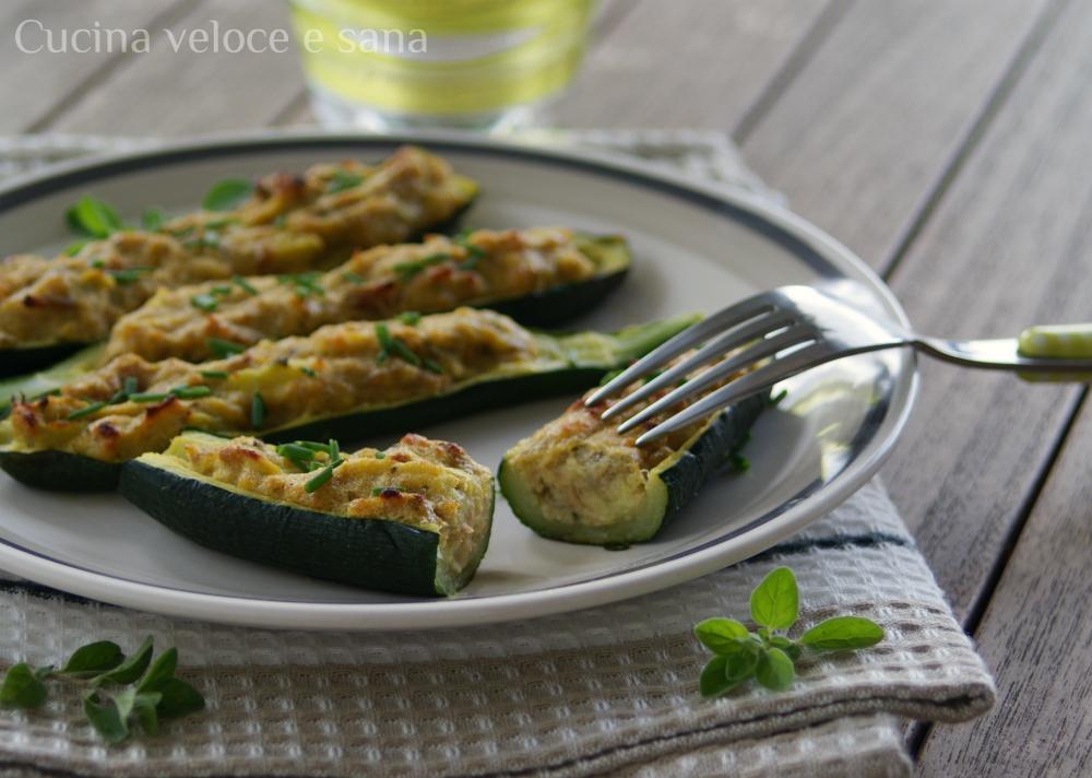 Zucchine farcite al tonno cucina veloce e sana - Cucina veloce e sana ...