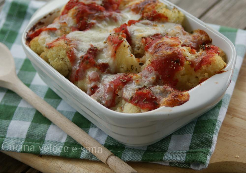 Cavolfiore alla pizzaiola cucina veloce e sana - Cucina veloce e sana ...