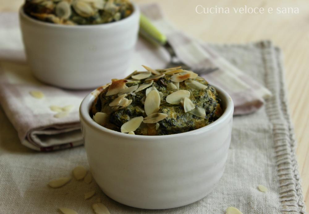 Sformatini con spinaci gorgonzola cucina veloce e sana - Cucina veloce e sana ...