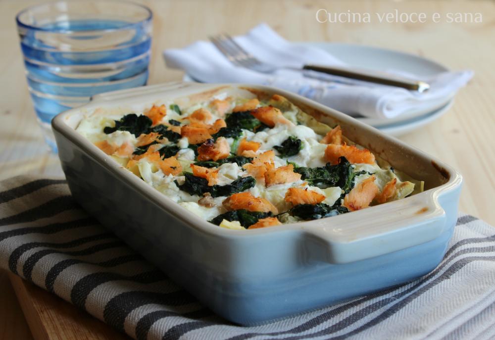 Lasagna al salmone e spinaci cucina veloce e sana - Cucina veloce e sana ...