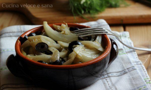 Finocchi in padella con olive