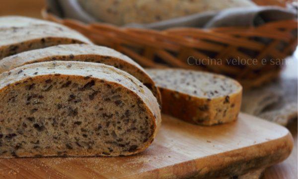 Pane al farro e semi di lino