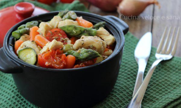 Bocconcini di pollo alle verdure primaverili