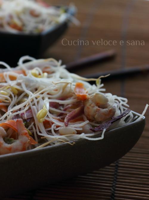 Vermicelli di riso con verdure cucina veloce e sana - Cucina veloce e sana ...