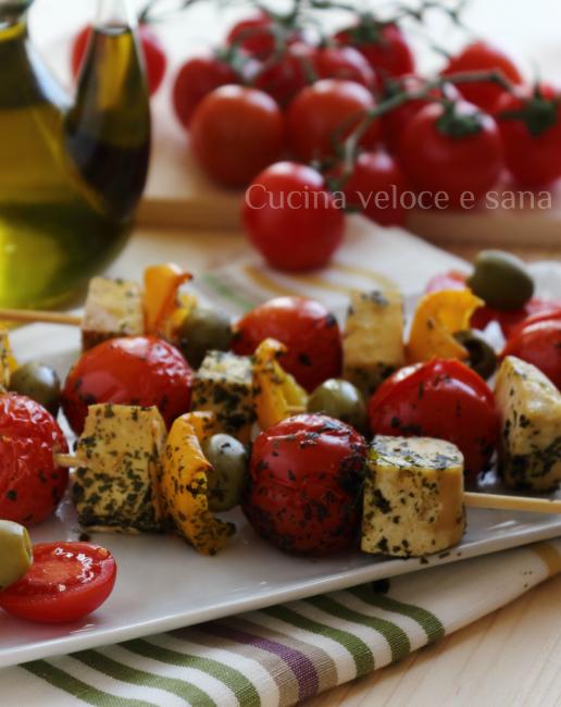 Spiedini di tofu e verdure cucina veloce e sana - Cucina veloce e sana ...