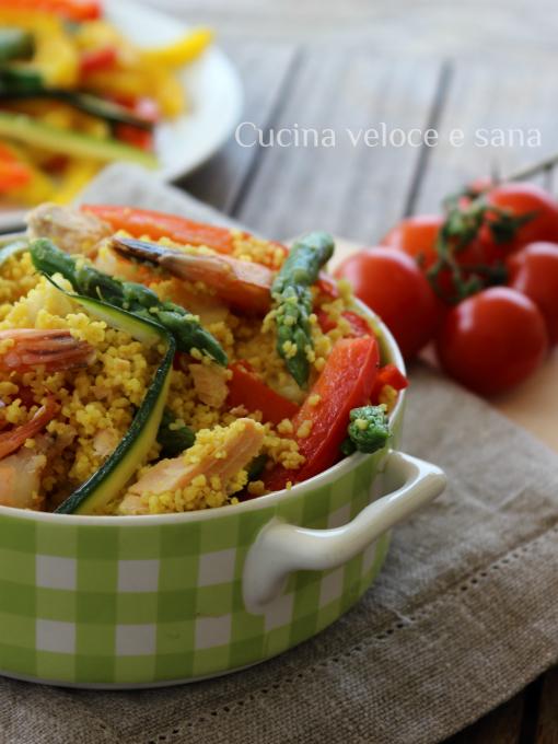 Couscous con pesce e verdure cucina veloce e sana - Cucina veloce e sana ...