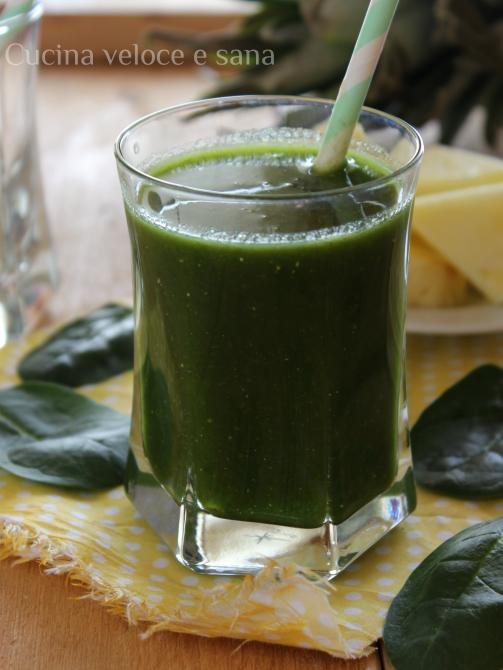 Frullato di ananas spinacini e limone cucina veloce e sana - Cucina veloce e sana ...