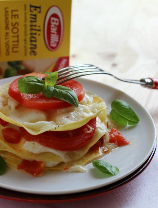lasagne con mozzarella