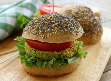 Burger vegan di ceci e zucchine