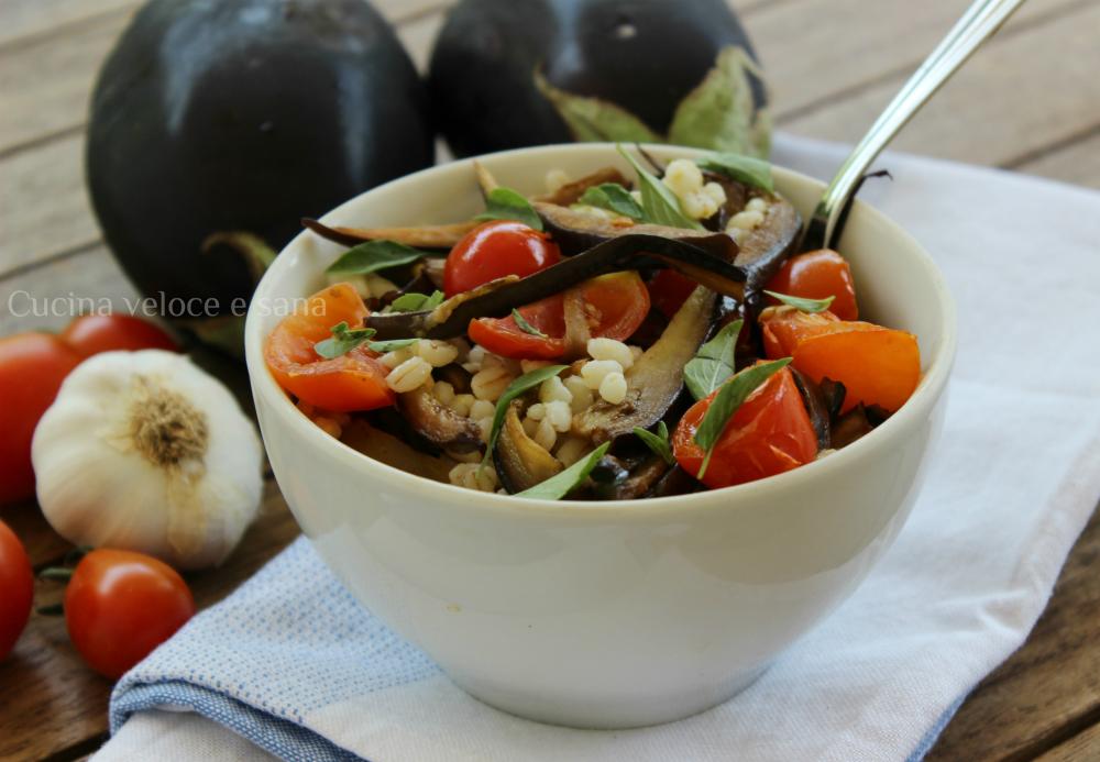 Insalata di orzo con melanzane cucina veloce e sana - Cucina veloce e sana ...
