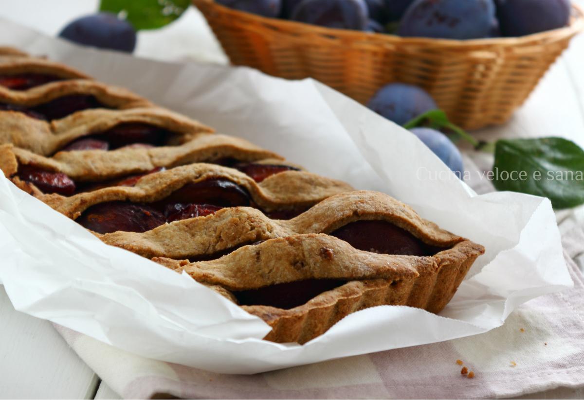 Crostata alle prugne e cannella cucina veloce e sana - Cucina veloce e sana ...