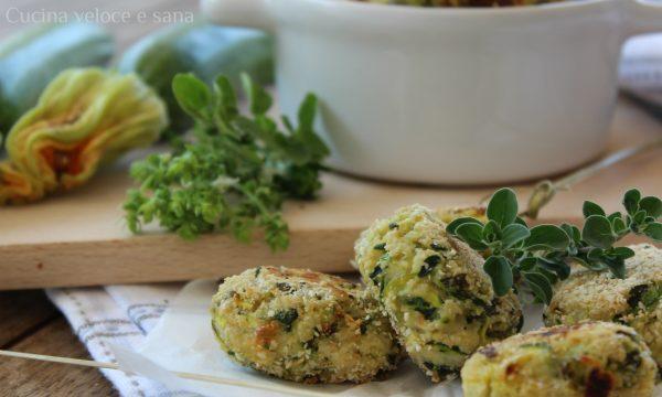 Crocchette di zucchine, ricotta ed erbette