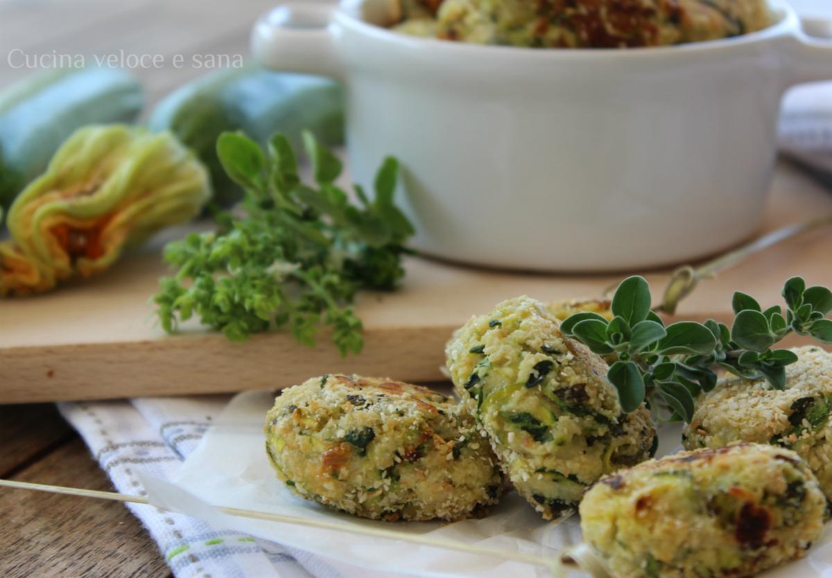 Crocchette di zucchine e ricotta cucina veloce e sana - Cucina veloce e sana ...