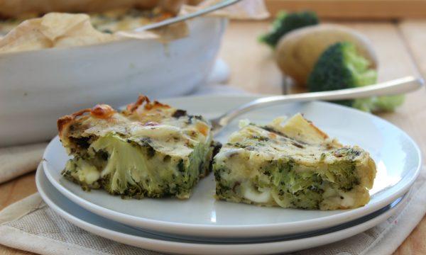 Sformato di patate, broccoli e funghi
