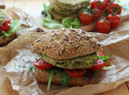 Burger di miglio, cannellini e spinaci