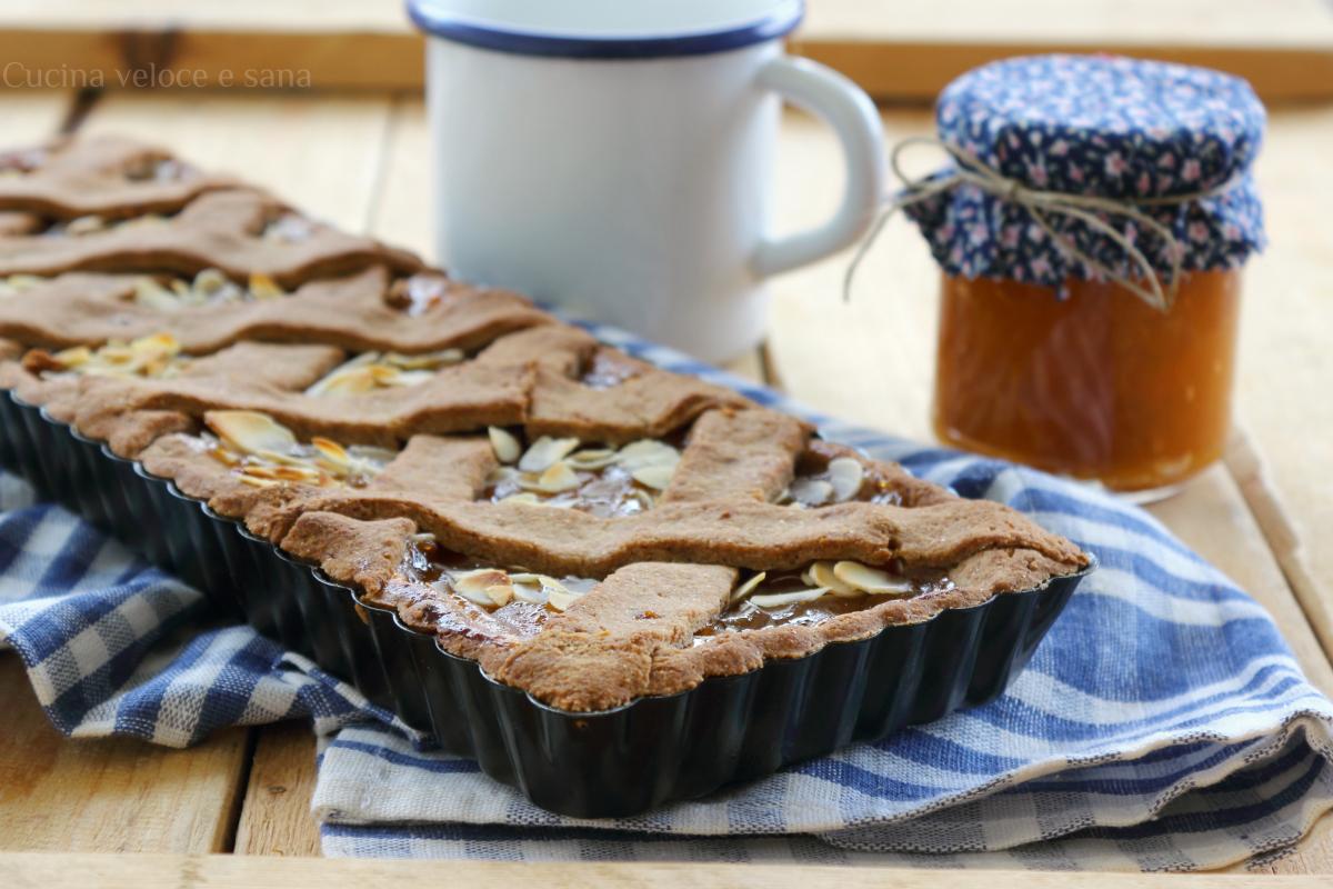 Crostata senza burro con farina integrale e marmellata - Cucina veloce e sana ...