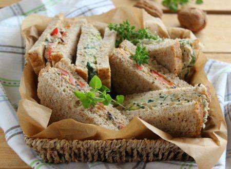 Tramezzini vegan con tofu