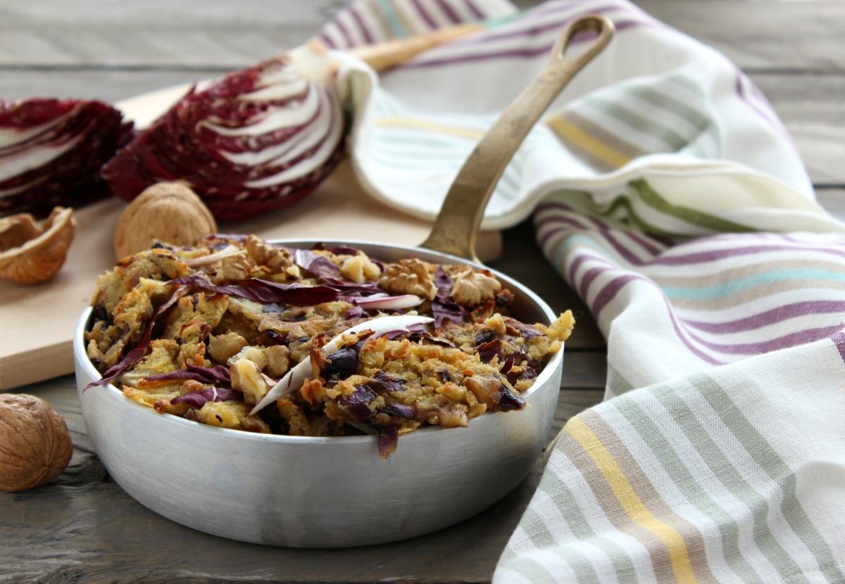 Frittata di ceci e radicchio farifrittata cucina veloce e sana - Cucina veloce e sana ...